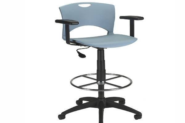 Perfect for collaboration spaces, the lightweight OnCall task chair and stool feature the collection's signature built-in crescent handle and back cut-out. Mix and match with fabrics from our vast collection for the seat, back or both to create an affordable addition to creative workstations or any impromptu meeting.