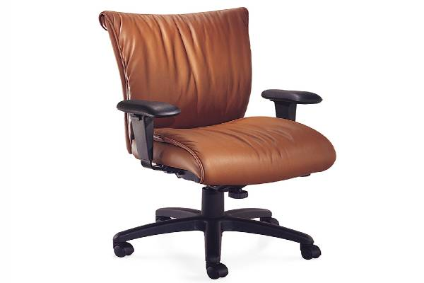 Glove Active highback chair, Momentum Silica Coppercrest, adjustable arms, Black base