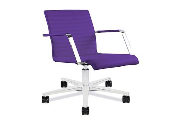 Siamo combines distinctive design with great comfort. With its slim line seat and backrest, it is reminiscent of the classic office chair and is available as a side chair, swivel chair with casters or a stool. Siamo will liven up any office space with its professional and polished appearance  exuding a take charge and in control of the meeting impression.
