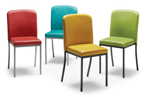 Our new Zee guest seating is lightly scaled and beautifully simple, with classical mid-century modern styling. Multiple frame colors are available in quantities of 6 or more, all models stack and arm chairs straight-line gang. Proudly made in the USA and certified: BIFMA Level Sustainability Standard.